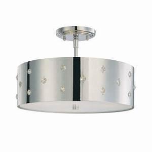 Kovacs Lighting Replacement Parts Kovacs P035 077 Chrome 3 Light Semi Flush Ceiling Fixture
