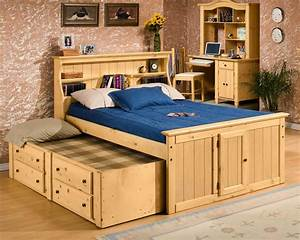 Sedona, Full, Bookcase, Bed, With, Trundle