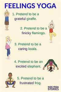 Yoga Pose Chart Poster Emotions Yoga Printable Poster Feelings Yoga And