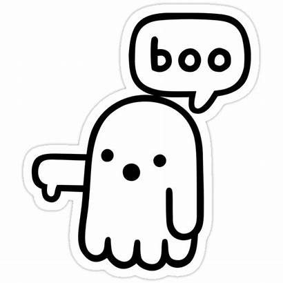 Sticker Stickers Redbubble Ghost Cool Disapproval Spooky