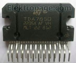 tda pinout  connection diagram integrated