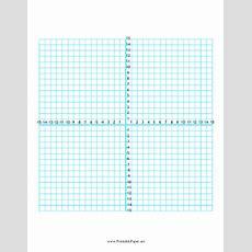 Printable Numbered Four Quadrant Grid 30x30