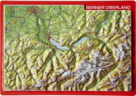 reliefpostkarte berner oberland von georelief dresden