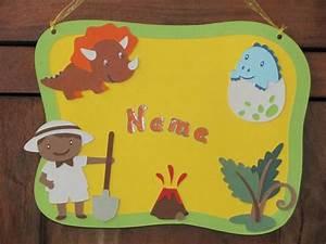 Türschild Kinderzimmer Basteln : t rschilder kinderzimmer t rschild dinosaurier ein designerst ck von wonderful paper art bei ~ Orissabook.com Haus und Dekorationen