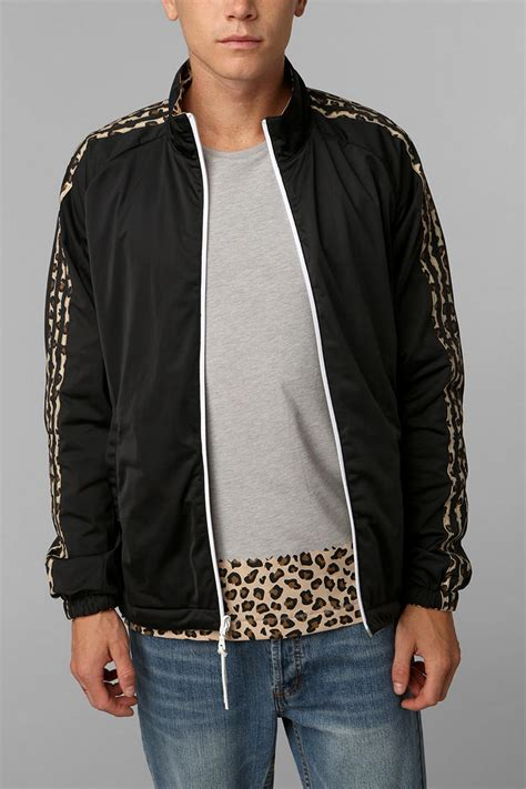 Urban Outfitters Blue Nylon Track Jacket in Black for Men | Lyst
