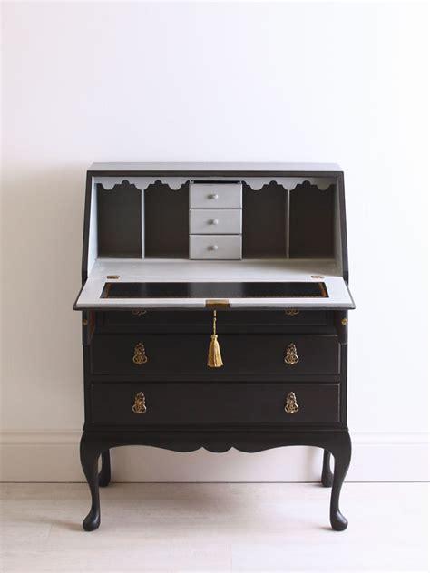bureau repeint antique painted black writing bureau desk with