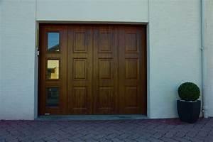 portes de garage laterales polyurethane ou pvc rendu bois With couleur de porte de garage