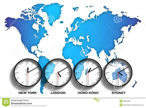 world map time zones stock photography image