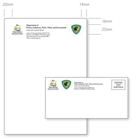 tasmanian government communications  brand stationery