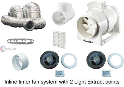 inline fan kits fansless