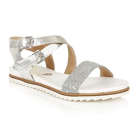 flat silver shoes buy ravel 39 torrington sandals in silver leather