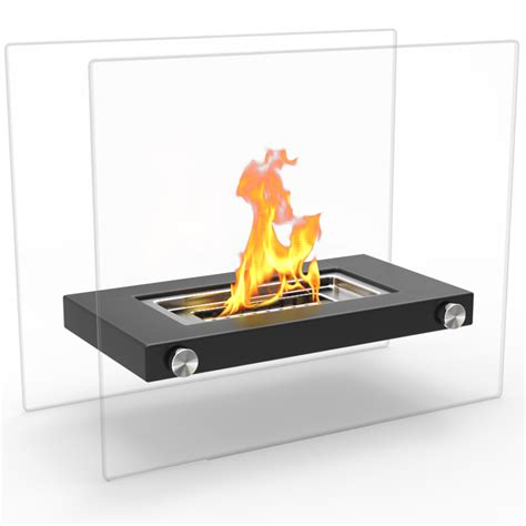 Monrow Ventless Tabletop Portable Bio Ethanol Fireplace In