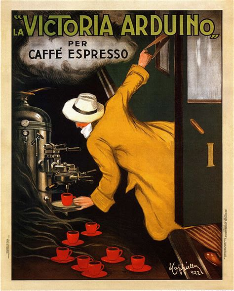 Colombian coffee vintage poster in canvas print. La Victoria Caffe Expresso Poster