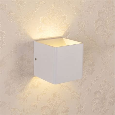 3w led indoor wall l surface mounted cube wall light