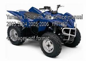 Yamaha Wolverine 450 Manual 2003 2004 2005 2006 Yfm450
