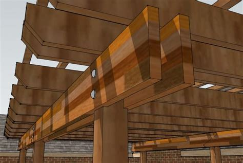 notching deck posts for beams pergola design doityourself community forums