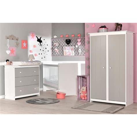 chambre clair chambre bébé complète gris clair et blanc grain d orge