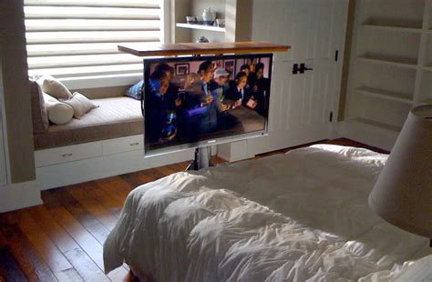 tv in the bedroom tv lift from floor tv floor in bedroom
