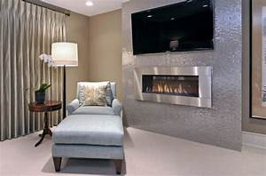 34 Modern Fireplace Designs With Glass For The