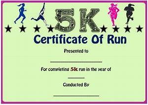 Fun run certificate template 14 editable free word for Fun run certificate template