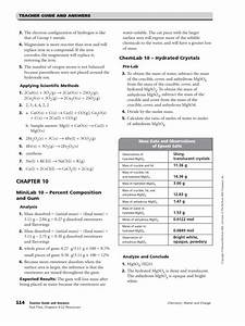 Chapters 10amp11 Resources Answer Key