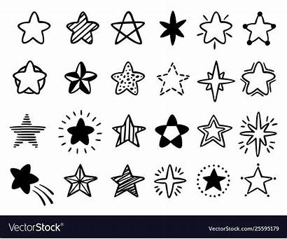 Stars Drawn Doodle Drawing Sterne Skizze Starry