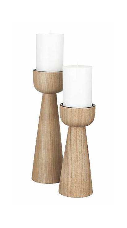 Candle Wood Holders Pillar Candles Wooden Acacia