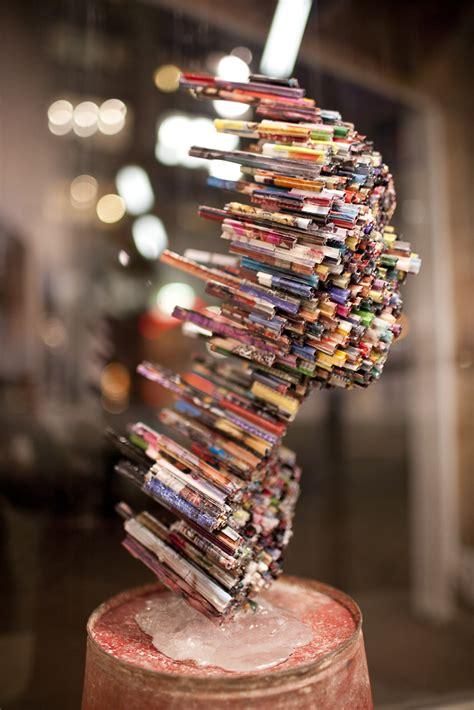 dimensional magazine sculptures defy  boundaries