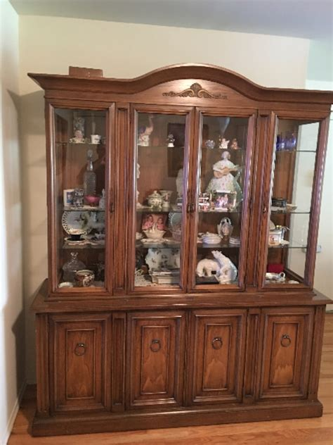 China Cabinet And Dining Room Set by Used Vintage Dining Room Set With Matching China Cabinet