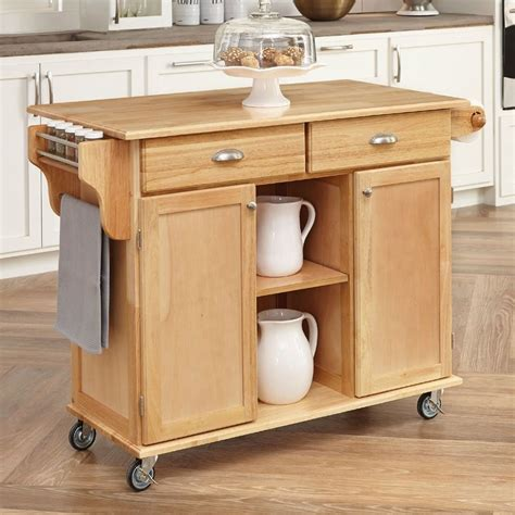 kitchen cart island shop home styles brown scandinavian kitchen carts at lowes com