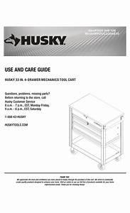 Husky Houc3304b10 Use And Care Manual