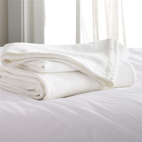 Siesta White King Blanket   Crate and Barrel