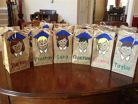 elementary school graduation gifts easy elementary school graduation goodie bags cut out design trace and paint pre k