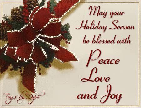 holiday season  blessed peace love  joy