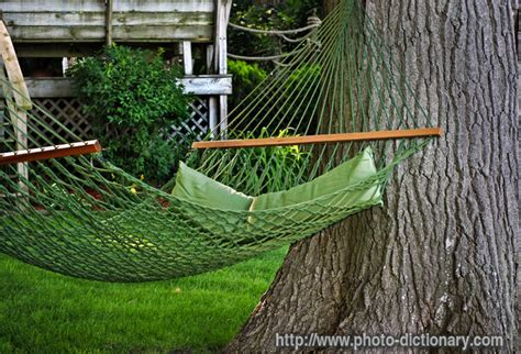 Hammock Dictionary by Backyard Hammock Photo Picture Definition At Photo