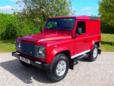 red land rover used rimini red land rover defender for sale essex