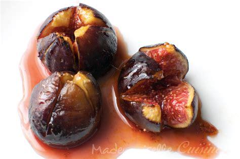 cuisiner figues figues roties au miel recette de cuisine mademoiselle