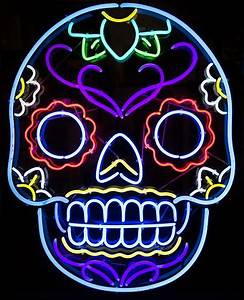Multi Color Skull Logo Neon Sign Other Neon Signs
