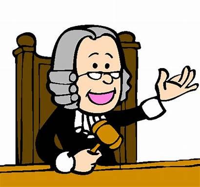 Judge Cartoon Clipart Clip Juez Profesiones Court