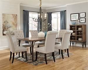 D530 25 ashley furniture tripton rectangular dining room for Dining room table
