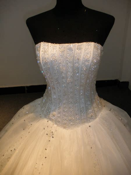 custom wedding ball gowns  real pictures strapless