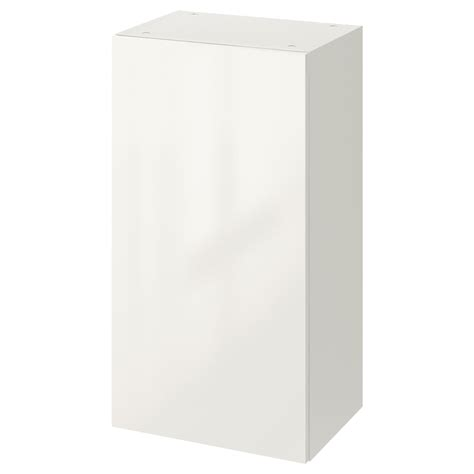 high gloss white cabinet doors knoxhult wall cabinet with door high gloss white 40x75 cm
