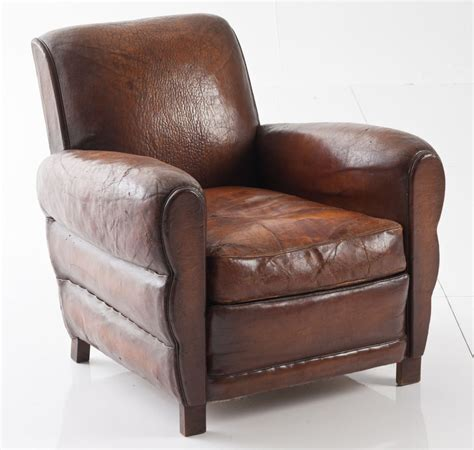 leather club chair french leather club chair at 1stdibs