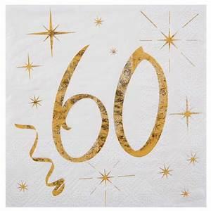 Deco Table Anniversaire 60 Ans : serviettes anniversaire 60 ans 1001 deco table ~ Dallasstarsshop.com Idées de Décoration
