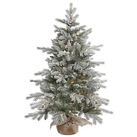 4 foot white christmas tree vickerman 4 foot frosted pine pre lit tree with warm white lights and burlap
