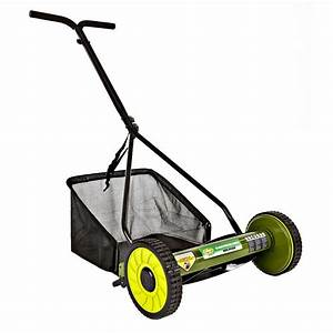 Sun Joe Mow Joe 16 In  Manual Push Walk Behind Reel Mower