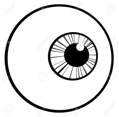 simple eye clipart black and white clipart eyeball pencil and in color