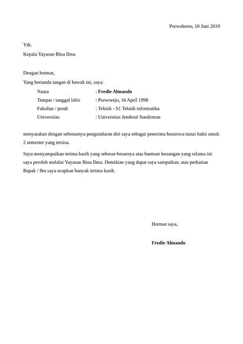 Download gratis surat resign yang benar. Surat pengunduran diri dari universitas sebagai dosen doc / word | detikLife