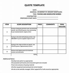 45 quotation templates sample templates With it quotation template
