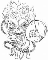 Ghost Rider Coloring Pages Print Ghostrider sketch template